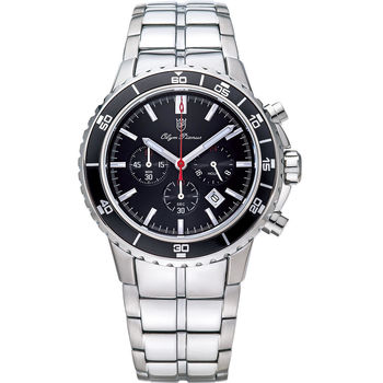 Olym Pianus奧柏表-潛水風格多功能計時三眼腕錶 89091-3GS