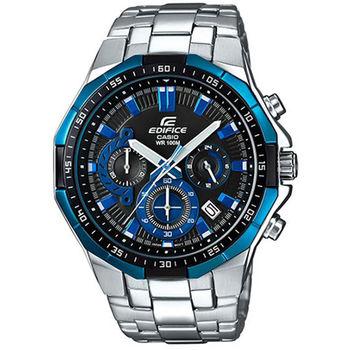 CASIO 卡西歐 EDIFICE 奔馳競速三眼時尚科技腕錶/47.1mm/ EFR-554D-1A2