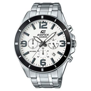 CASIO 卡西歐 EDIFICE 高科技智慧三眼三針賽車男用腕錶-47mm/EFR-553D-7B