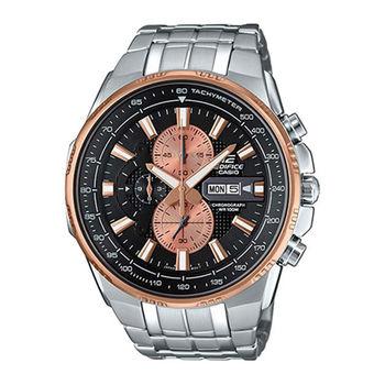 CASIO 卡西歐 EDIFICE 時尚科技雙顯賽車錶-黑/50.3mm/EFR-549D-1B9