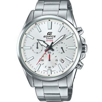 CASIO 卡西歐  EDIFICE 經典三眼時刻時尚不鏽鋼腕錶/43.9mm/EFV-510D-7A