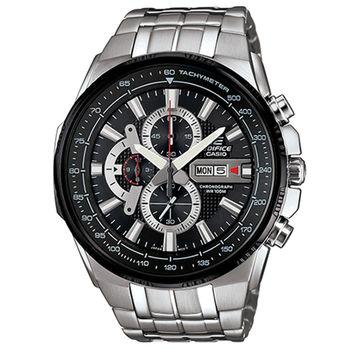 CASIO 卡西歐 EDIFICE 時尚科技雙顯賽車錶-黑/50.3mm/EFR-549D-1A8
