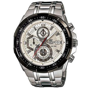 CASIO 卡西歐 EDIFICE 賽車極速魅力設計腕錶-白x黑框/49.5mm/EFR-539D-7A