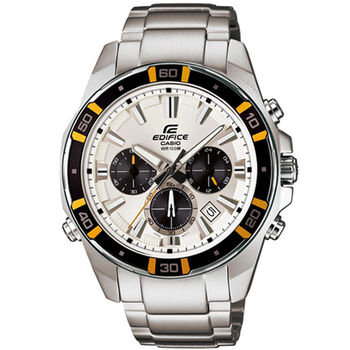 CASIO 卡西歐 EDIFICE 經典三眼設計LED計時腕錶/46mm/EFR-534D-7A