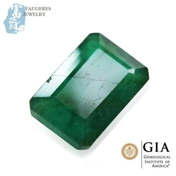 【富爵珠寶】天然祖母綠-天然祖母綠-GIA4.6克拉祖母綠裸石-GIA468