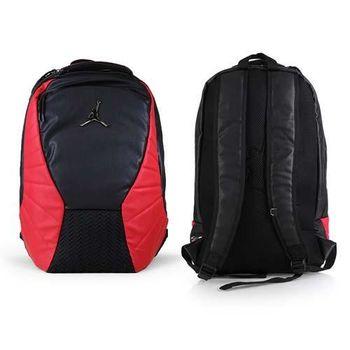 【NIKE】JORDAN RETRO 12後背包-雙肩包 喬丹  18吋筆電 黑紅