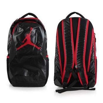 【NIKE】JORDAN TRAINING DAY後背包-喬丹雙肩包 18吋筆電 黑紅