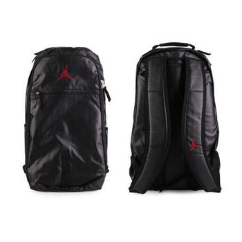 【NIKE】JORDAN JUMPMAN後背包- 喬丹 雙肩包 18吋筆電 黑紅