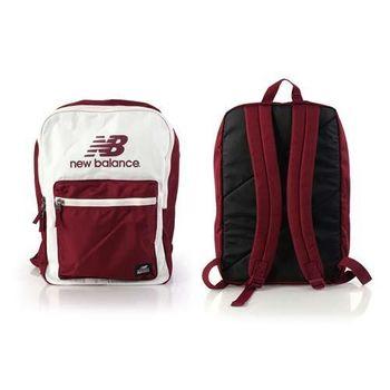 【NEWBALANCE】後背包 -NB 雙肩包 18吋筆電 米白磚紅
