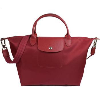 Longchamp Le Pliage Neo 折疊厚尼龍短把兩用包.紅#1515