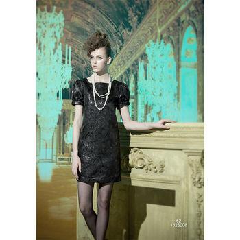 【龐吉 PANGCHI】典雅黑晚宴公主袖洋裝
