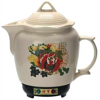金婦寶3.8L彩繪白瓷養生藥膳壺