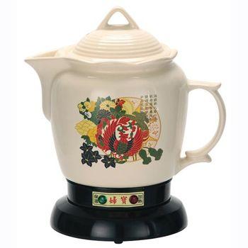 三代婦寶3.8L彩繪白瓷陶瓷煎藥機