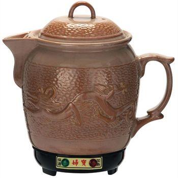 婦寶3.6L陶瓷彩釉藥膳壺 (土龍)