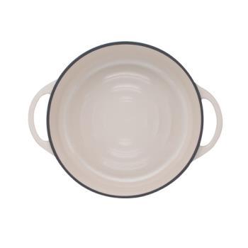 日本Vermicular琺瑯鑄鐵鍋26cm淺鍋(米黃)VPOT26S-NB