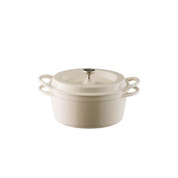 日本Vermicular琺瑯鑄鐵鍋18cm(米黃)VPOT18-NB
