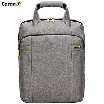 【AOU微笑旅行】CARANY系列/男士商務手提背包17吋電腦公事包(灰色58-0017)