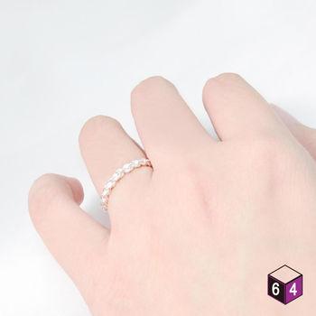 ART64 戒指  麻花戒-時尚花型 925純銀戒指