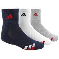 ~Adidas~2016男學生 寶藍白灰色中筒襪混搭3入組 #40  #41