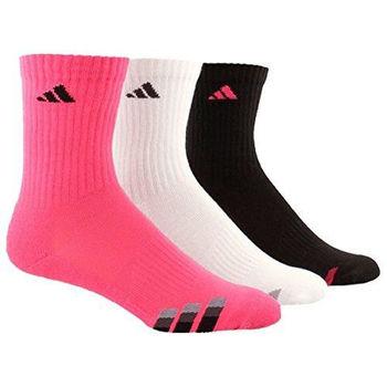 【Adidas】2016男學生時尚粉紅白黑色中筒襪混搭3入組(預購)