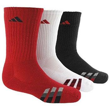 【Adidas】2016男學生時尚紅白黑色中筒襪混搭3入組(預購)
