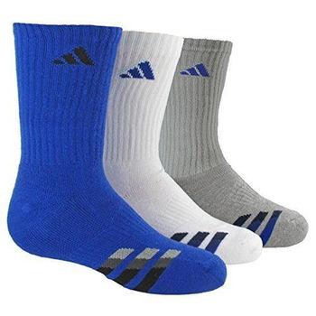 【Adidas】2016男學生時尚藍白灰色中筒襪混搭3入組(預購)