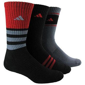 【Adidas】2016男學生超炫紅黑灰色中筒襪混搭3入組(預購)