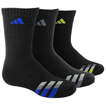 【Adidas】2016男學生經典黑色中筒襪3入組(預購)