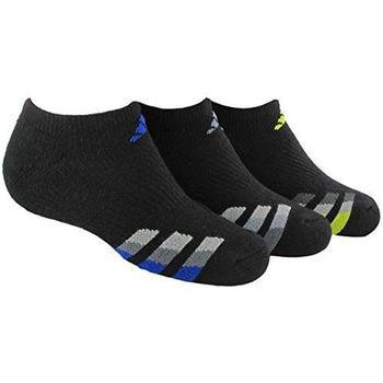 【Adidas】2016男學生無外露黑色運動襪3入組(預購)