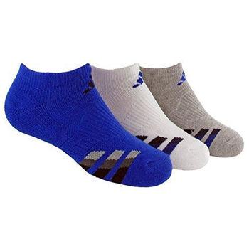 【Adidas】2016男學生無外露藍白灰運動襪混搭3入組(預購)