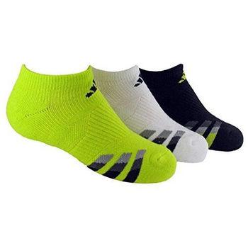 【Adidas】2016男學生無外露綠白黑運動襪混搭3入組(預購)