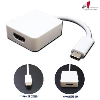 Awesome USB3.1 TypeC to HDMI轉接線-A00250004