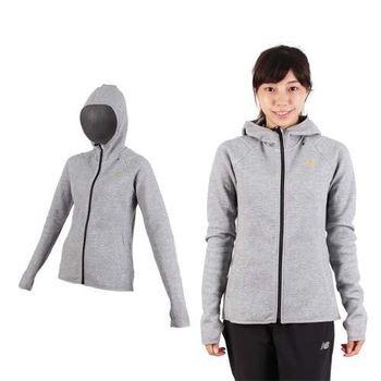 【ASICS】女運動外套-連帽外套 慢跑 路跑 亞瑟士 灰金  內裡刷毛
