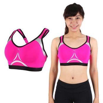 【PUMA】PWRSHAPE 女訓練系列高衝擊運動內衣-運動背心 健身 螢光粉黑