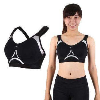 【PUMA】PWRSHAPE 女訓練系列高衝擊運動內衣-運動背心 健身 黑銀