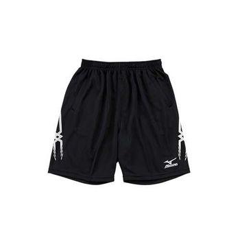 【MIZUNO】男運動短褲-排球 慢跑 美津濃 黑白