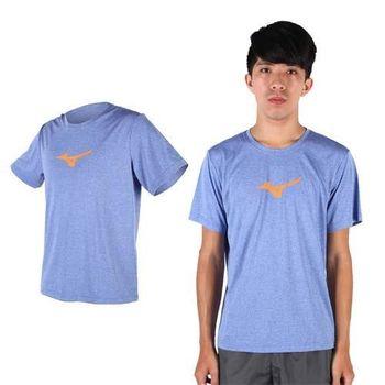 【MIZUNO】男短袖T恤- 路跑 慢跑 健身 美津濃 藍橘