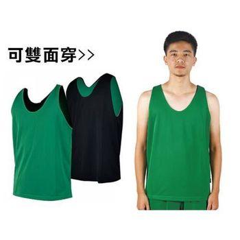 【MJ3】雙面穿男籃球背心-運動背心 休閒背心 中綠