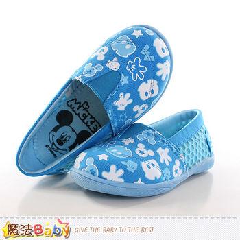 魔法Baby 童鞋 迪士尼米奇授權正版幼兒園輕巧鞋~sh9953