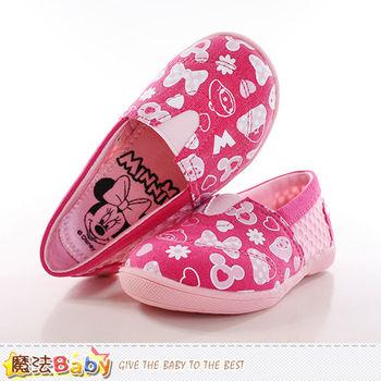 魔法Baby 女童鞋 迪士尼米妮授權正版幼兒園輕巧鞋~sh9952