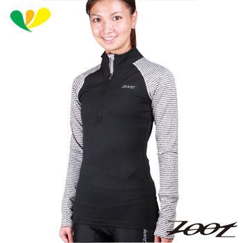ZOOT 都會風超彈力半拉式緊身衣(女)(黑/灰白) Z1604067