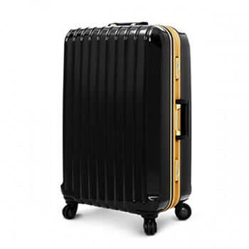 Deseno Weekender 瑰麗绚燦 黑色金彩 深鋁框PC鏡面行李箱/旅行箱 26吋 2254-26BG
