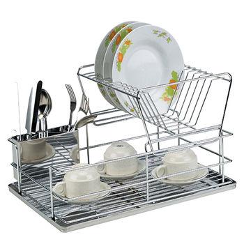 304雙層不銹鋼碗盤瀝水架