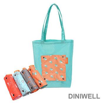 【DINIWELL】卡通防水折疊收納手提袋(4色)
