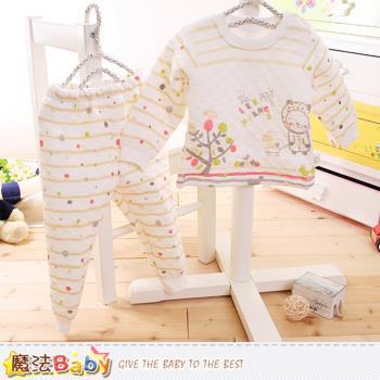 魔法Baby 寶寶居家套裝 專櫃款超厚三層棉極暖睡衣套裝~k60168