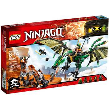 【LEGO 樂高積木】Ninjago 忍者系列-綠色遁形忍者龍 LT 70593