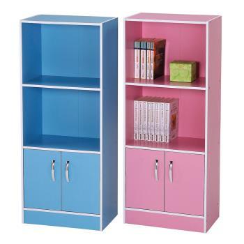 【樂活玩家】三層雙門書櫃(2色)