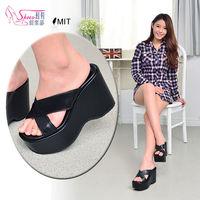 ~ShoesClub~~052 ^#45 282~ 製MIT 不敗 舒適氣墊厚底楔型拖鞋.
