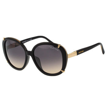 Roberto Cavalli 蛇紋造型 太陽眼鏡(黑色)