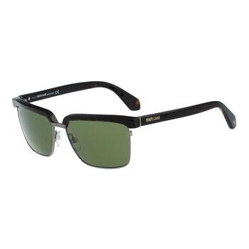 Roberto Cavalli 眉框復古太陽眼鏡(琥珀色)